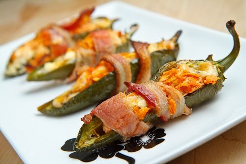 Best Super Bowl Party BBQ Recipes -- Bacon Wrapped Smoked Jalapenos
