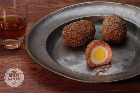 Best Super Bowl Party Recipes -- Smoked Scotch Eggs