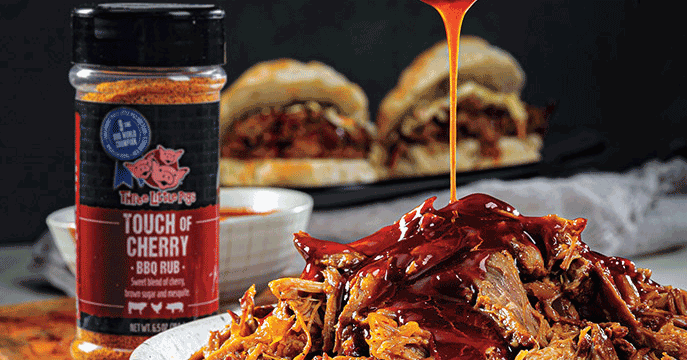 Three Little Pigs BBQ Instant Pot Cherry-Sriracha Pulled Pork