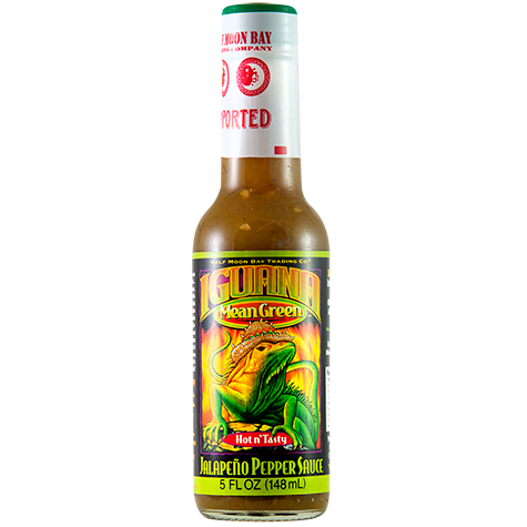 Iguana Mean Green Jalapeno Pepper Sauce