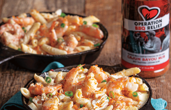Shrimp & Crab Mac and Cheese with Spicy Breadcrumbs