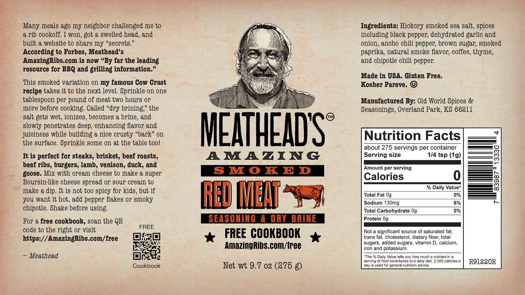 Meathead's Amazing Smoked Red Meat Seasoning and Brine